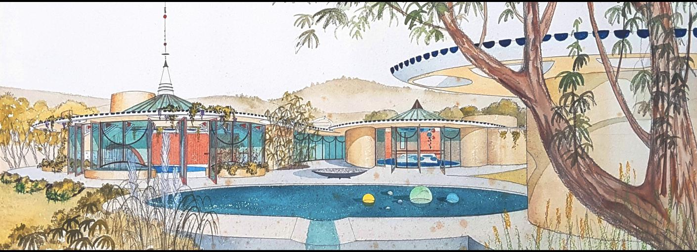 Fred Hollingsworth, Design for a Show House, c. 1960